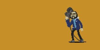 S. Kubrick en pixel art