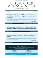Proposition de newsletter